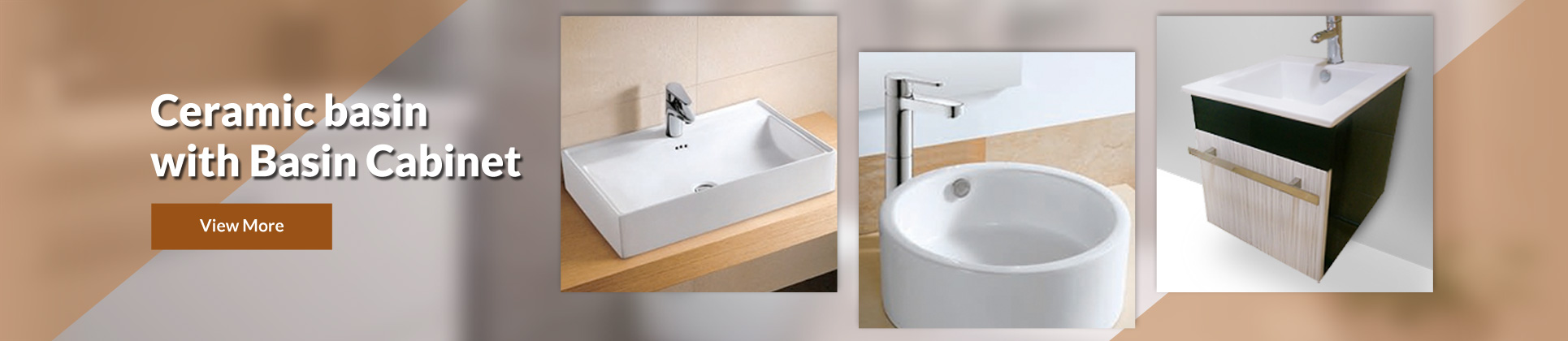 Ceramic basin with Basin Cabinet