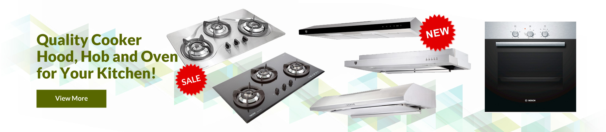 Cooker Hood, Hob and Oven