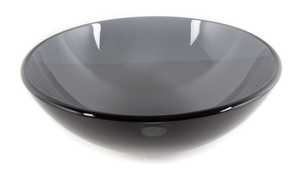 Black Color Tempered Glass Basin Bowl
