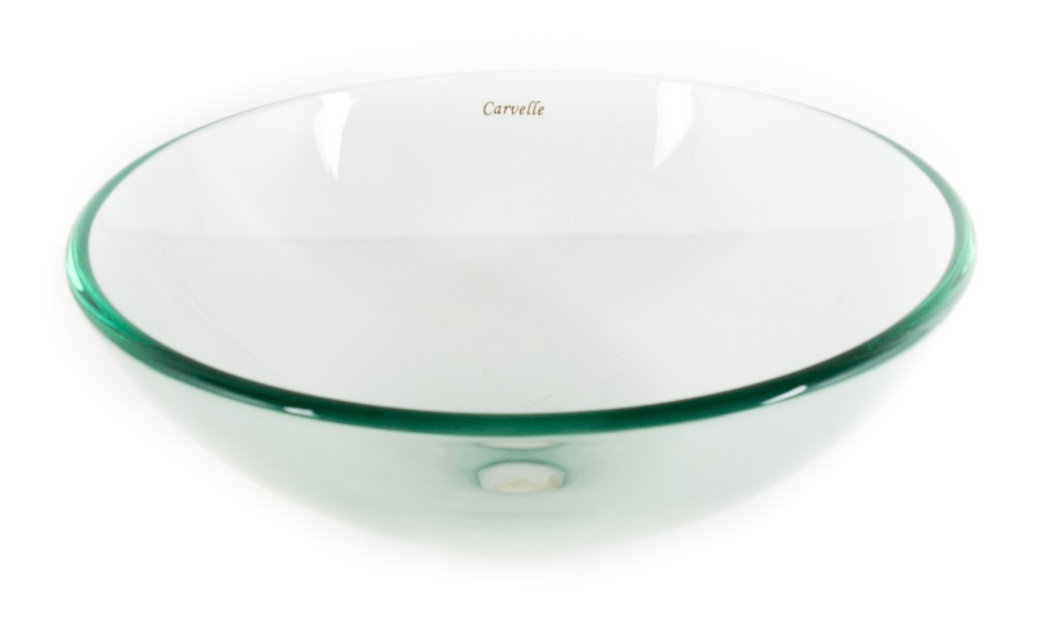Clear Tempered Glass Basin Bowl
