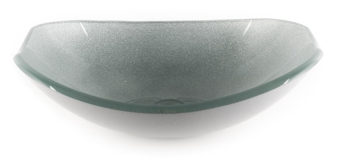 G Ferretti Round Glass Basin Bowl Cv 058 Silver