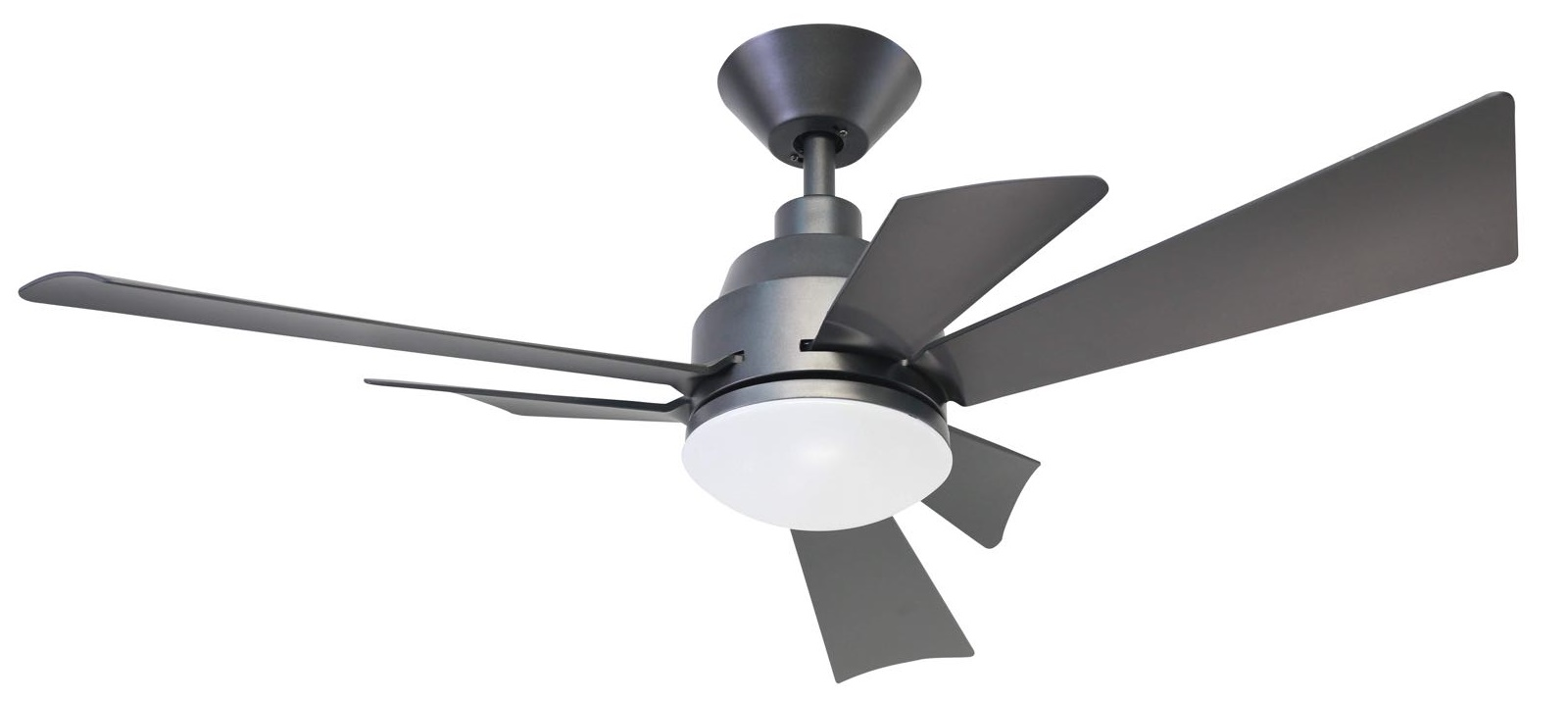 Kaze Fujin Ceiling Fan Dc Motor 48 Inch With 3 Twin Blades Black White Color