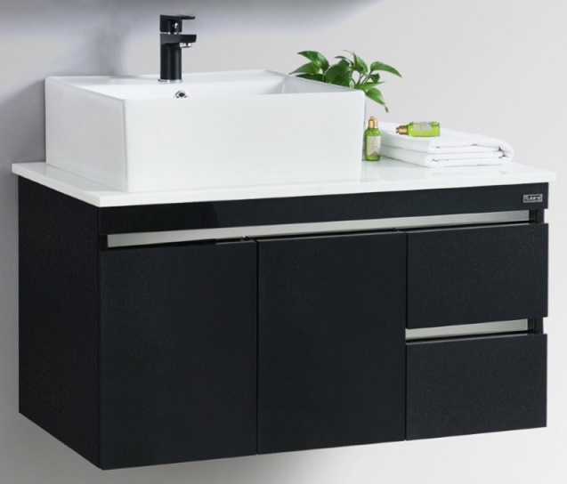 Rubine Stainless Steel Basin Cabinet Rbf 1495d4 Black And White Color
