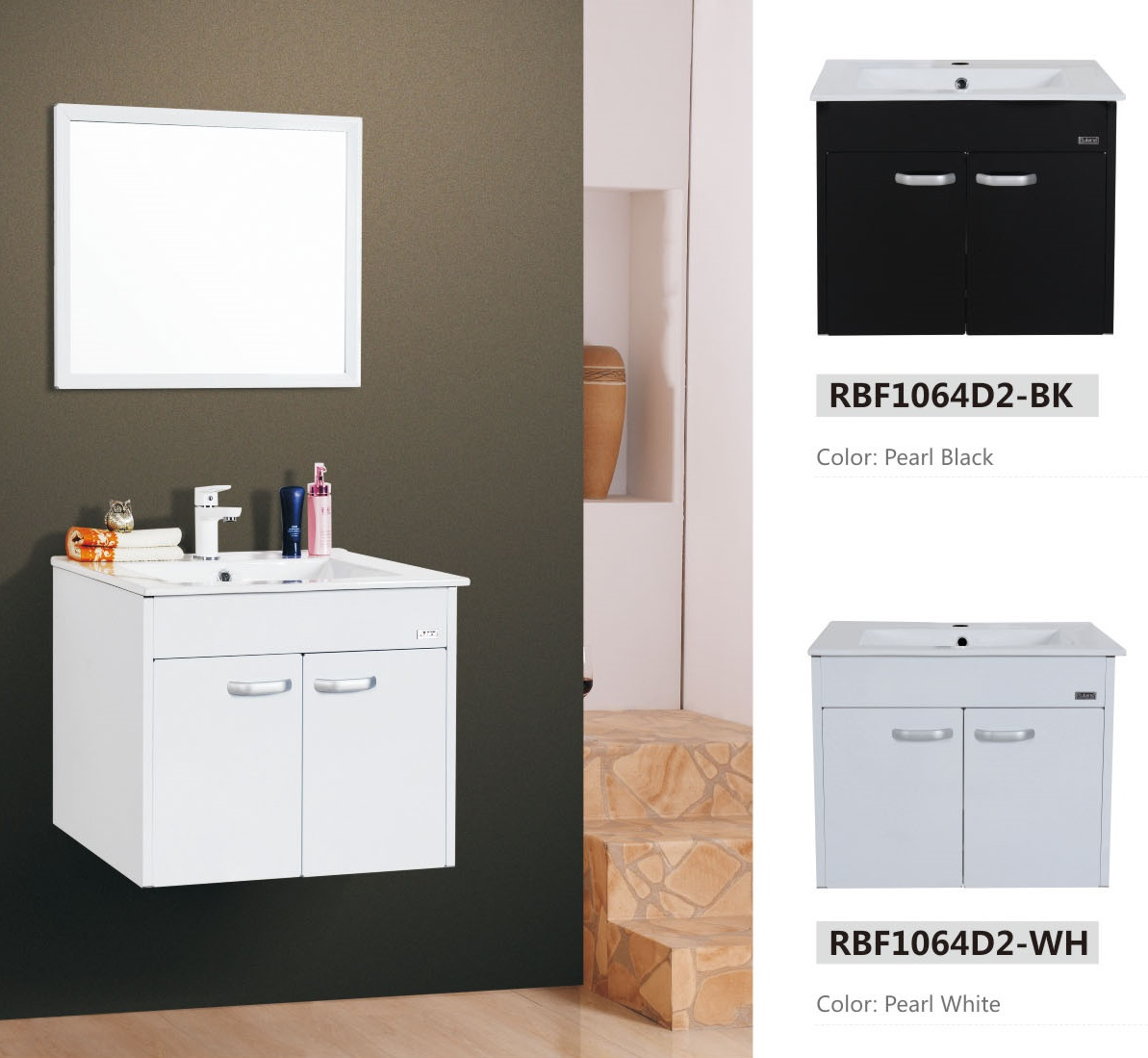 Stainless steel basin cabinet for Bathroom cabinets singapore