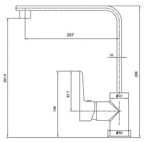 RUBINE Kitchen Sink Mixer Tap