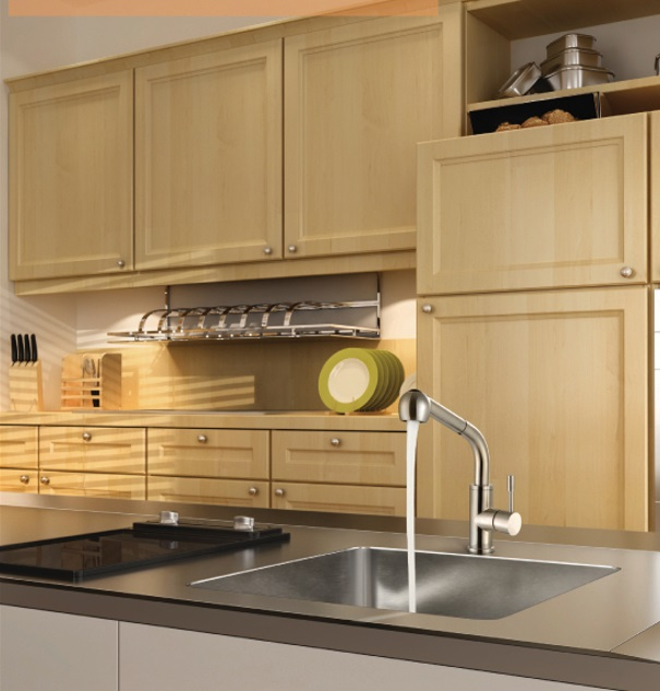 Rubine Stainless Steel Kitchen Pull Out Mixer Tap Inox